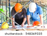 project architects and... | Shutterstock . vector #548369335