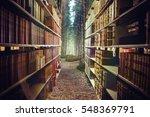 Close Up Of A Bookshelf Agains...