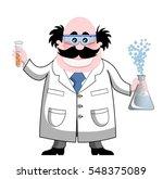 cartoon chemist isolated  | Shutterstock . vector #548375089