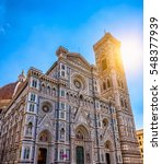 florence cathedral of saint... | Shutterstock . vector #548377939