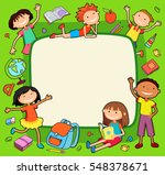 illustration of kids bunner... | Shutterstock .eps vector #548378671