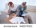 depressed couple doing their... | Shutterstock . vector #548379301