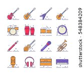 colored musical instruments... | Shutterstock .eps vector #548384209