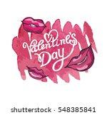 valentines day vintage... | Shutterstock .eps vector #548385841