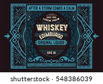 vintage badge for whiskey... | Shutterstock .eps vector #548386039