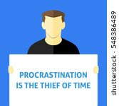 procrastination is the thief of ... | Shutterstock .eps vector #548386489