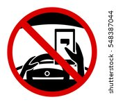 no texting while driving... | Shutterstock .eps vector #548387044