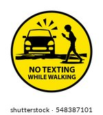 no texting while walking... | Shutterstock .eps vector #548387101