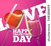 happy valentines day card with... | Shutterstock .eps vector #548388859