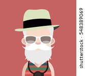 avatar with white beard in red... | Shutterstock .eps vector #548389069