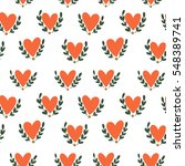 heart pattern  vector seamless... | Shutterstock .eps vector #548389741