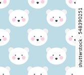 seamless pattern. polar bear.... | Shutterstock .eps vector #548390251