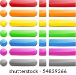 blank web glossy buttons.... | Shutterstock .eps vector #54839266