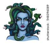 vector color goddess medusa...   Shutterstock .eps vector #548396089