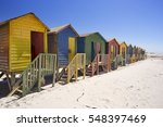 Old Colourful Beach Huts On Th...