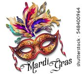 mardi gras mask isolated on... | Shutterstock .eps vector #548400964