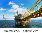 offshore construction platform... | Shutterstock . vector #548401999