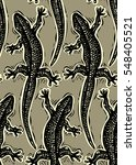 reptilian seamless pattern ... | Shutterstock . vector #548405521