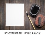 abstract white paper with... | Shutterstock . vector #548411149