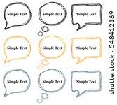 colorful stylized speech... | Shutterstock .eps vector #548412169