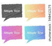 colorful stylized speech... | Shutterstock .eps vector #548412175