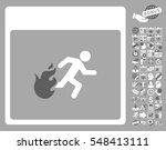 fire evacuation man calendar... | Shutterstock .eps vector #548413111