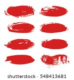 set of hand drawn paint object... | Shutterstock .eps vector #548413681