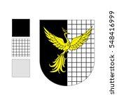 firebird heraldry sable | Shutterstock .eps vector #548416999
