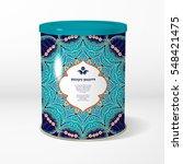 vector object. round tin... | Shutterstock .eps vector #548421475