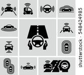 driverless autonomous car... | Shutterstock .eps vector #548424985