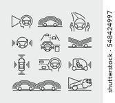 driverless autonomous car... | Shutterstock .eps vector #548424997