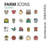 simple modern set of farm icons....   Shutterstock .eps vector #548425531