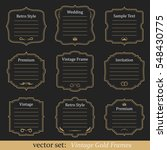 vector set of vintage gold... | Shutterstock .eps vector #548430775