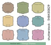 vector set of vintage frames on ... | Shutterstock .eps vector #548430829