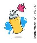 graffiti spray can vector... | Shutterstock .eps vector #548442247