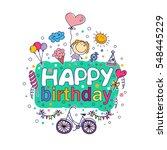 poster for the birthday...   Shutterstock .eps vector #548445229