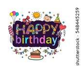 poster for the birthday...   Shutterstock .eps vector #548445259