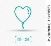 heart balloon isolated single... | Shutterstock .eps vector #548445949