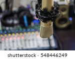 microphone in radio broastcast... | Shutterstock . vector #548446249