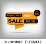 sale banner design. orange... | Shutterstock .eps vector #548452669
