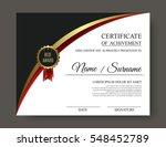 beautiful luxury certificate of ... | Shutterstock .eps vector #548452789