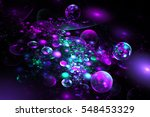 Abstract Glowing Blue  Pink An...