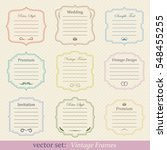 vector set of vintage frames | Shutterstock .eps vector #548455255