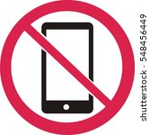 no phone sign icon | Shutterstock .eps vector #548456449