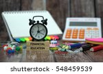 financial education | Shutterstock . vector #548459539