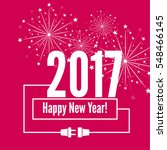 connecting to the new year 2017.... | Shutterstock .eps vector #548466145