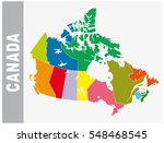 colorful canada administrative... | Shutterstock .eps vector #548468545