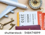 top view of two boarding pass... | Shutterstock . vector #548474899