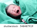 baby crying after birth in... | Shutterstock . vector #548487919