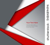 abstract red white grey... | Shutterstock .eps vector #548489494